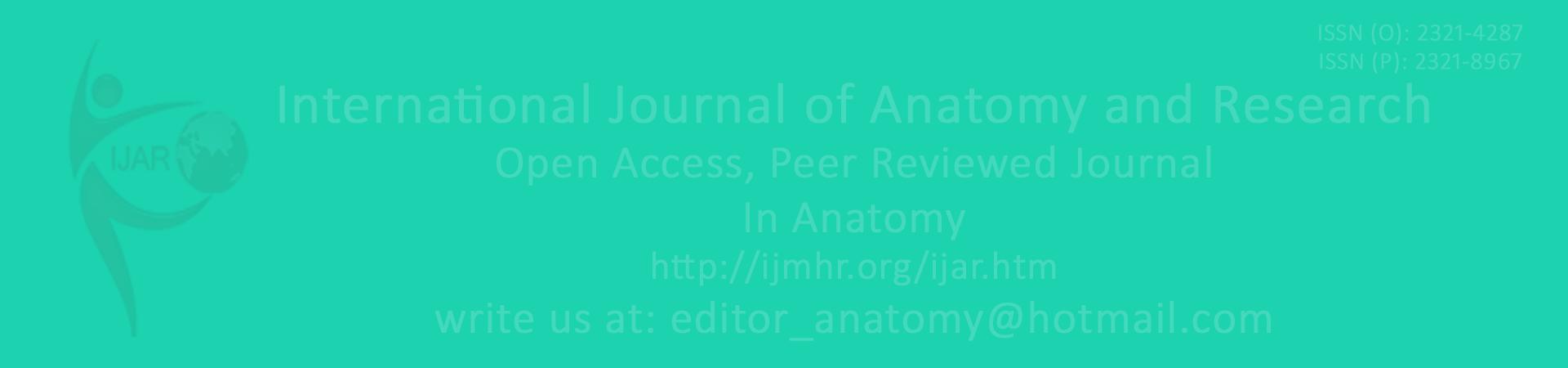 IJAR | Anatomy | International Journal of Anatomy and Research | Int ...