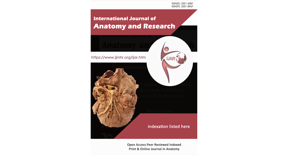 IJAR | Anatomy | International Journal of Anatomy and